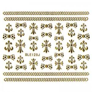 สติ๊กเกอร์ทอง 3D BLE128J-G