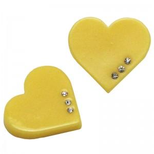 หัวใจติดเพชรสีเหลือง
