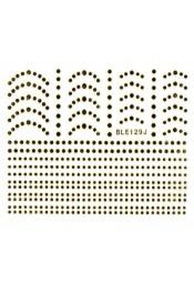 สติ๊กเกอร์ทอง 3D BLE129J-G