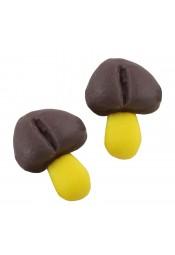 ช็อกโกแลตเห็ดน้ำตาล 10 ชิ้น
