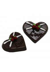 ช็อกโกแลตหัวใจสีน้ำตาล