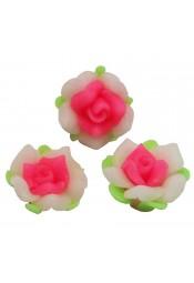 ดอกกุหลาบขาวชมพู 5 ดอก