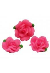 ดอกกุหลาบสีชมพูใหญ่ 3 ดอก