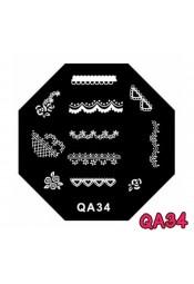 แผ่นเพสแปดเหลี่ยมQA34