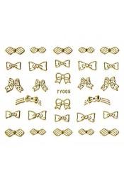 สติ๊กเกอร์ทอง 3D TY-005