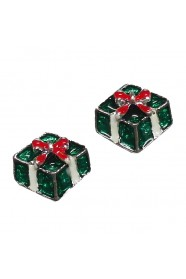 กล่องของขวัญเขียวโลหะ 5 ชิ้น