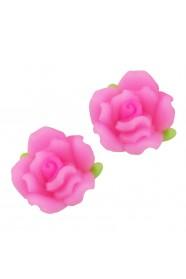 ดอกกุหลาบไล่สีชมพู 8 ชิ้น