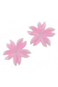 ดอกก้ามปูซิลิโคนชมพู 8 ชิ้น
