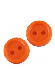 กระดุมส้ม 10 ชิ้น
