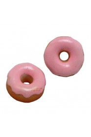 โดนัทเคลือบน้ำตาลสีชมพู