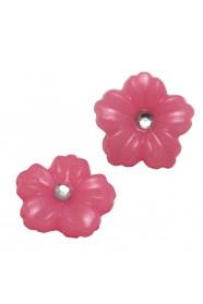 ดอกไม้เล็กชมพู 2 ชิ้น