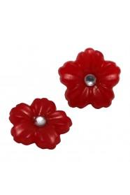 ดอกไม้เล็กแดง 2 ชิ้น