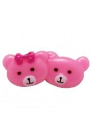 หมีคู่สีชมพูอ่อน