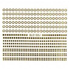 สติ๊กเกอร์ทอง 3D BLE132J-G