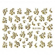 สติ๊กเกอร์ทอง 3D BLE136J