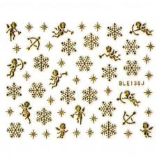 สติ๊กเกอร์ทอง 3D BLE138J