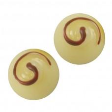 ช็อกโกแลตกลมนูนเหลือง 5 ชิ้น