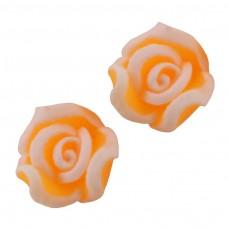 ดอกกุหลาบปลายขาวส้ม 10 ชิ้น