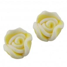 ดอกกุหลาบปลายขาวเหลือง 10 ชิ้น
