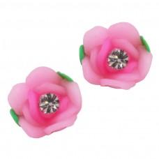 ดอกไม้ชมพู 8 ชิ้น
