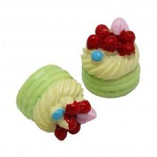 คัพเค้กผลไม้สีเขียว