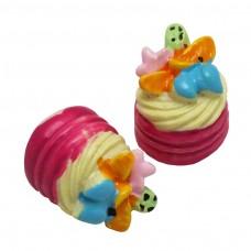 คัพเค้กผลไม้สีชมพู
