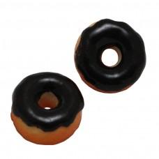 โดนัทเคลือบน้ำตาลสีดำ