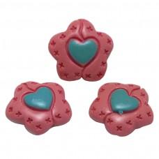 ดอกไม้หัวใจ 3 ชิ้น