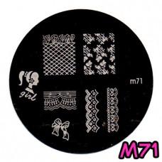 แผ่นเพสกลมM71