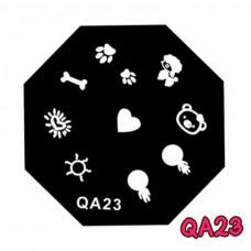 แผ่นเพสแปดเหลี่ยมQA23