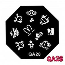 แผ่นเพสแปดเหลี่ยมQA28