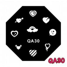 แผ่นเพสแปดเหลี่ยมQA30