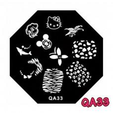 แผ่นเพสแปดเหลี่ยมQA33