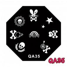 แผ่นเพสแปดเหลี่ยมQA35