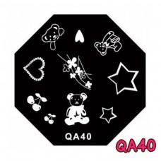 แผ่นเพสแปดเหลี่ยมQA40