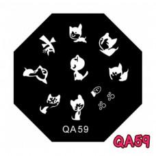 แผ่นเพสแปดเหลี่ยมQA59
