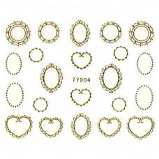 สติ๊กเกอร์ทอง 3D TY-004
